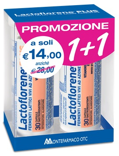 LACTOFLORENE PLUS BIPACK 30 CAPSULE 26,40 G - Farmacento