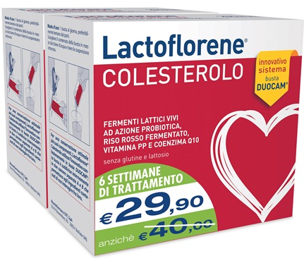 MONTEFARMACO OTC LACTOFLORENE COLESTEROLO INTEGRATORE ALIMETARE BIPACK 40 BUSTINE - Farmastar.it