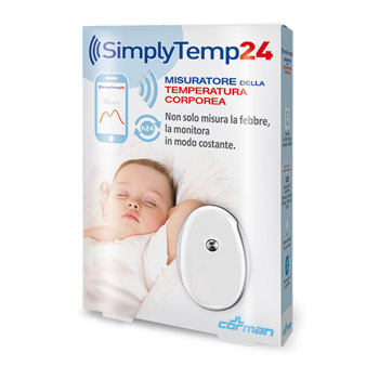 SIMPLYTEMP24 TERMOMETRO BLUETOOTH - Farmacento