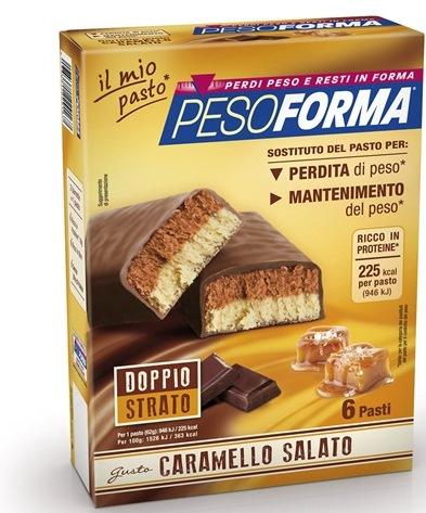PESOFORMA BARRETTA AL CARAMELLO SALATO 12 PEZZI DA 31 G - FARMAPRIME