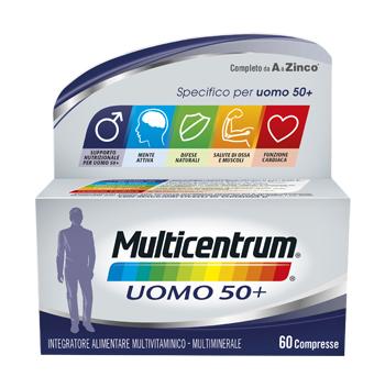 MULTICENTRUM UOMO 50+ 60 COMPRESSE - Zfarmacia