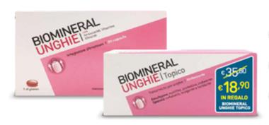 BIOMINERAL UNGHIE 30 CAPSULE + TOPICO EMULSIONE 20 ML IN REGALO - Farmacia 33