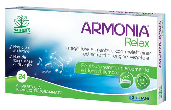 ARMONIA RELAX 1 MG A BASE DI MELATONINA 24 COMPRESSE - Farmamille