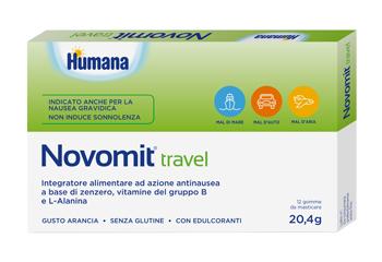 NOVOMIT TRAVEL 12 GOMME DA MASTICARE GUSTO ARANCIA - Farmacento