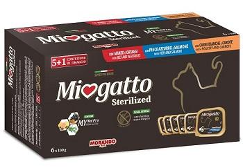 MIOGATTO MULTIPACK 5 X 100 G + 1 OMAGGIO - Farmacento