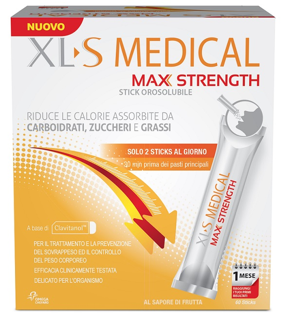 XLS Medical Max Strength Controllo del Peso 60 stick - La tua farmacia online