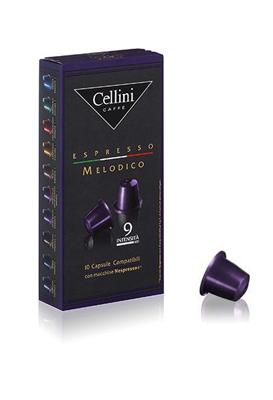 Cellini Caffè Melodico Espresso 10 Capsule Compatibili Nespresso Intensità 9 - Farmacia 33
