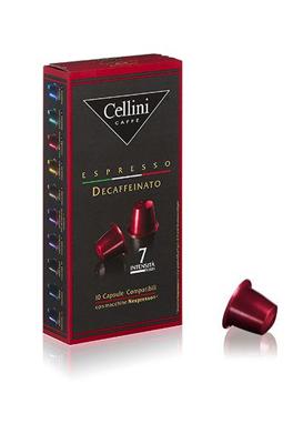 Cellini Caffè Espresso Decaffeinato 10 Capsule Compatibili Nespresso Intensità 7 - Farmacia 33