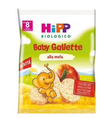 HIPP BIOLOGICO GALLETTE DI RISO MELA 30 G - FARMAEMPORIO