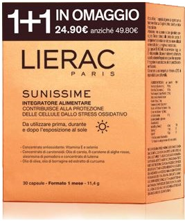 LIERAC DUO SUNISSIME 30 + 30 CAPSULE - Farmawing