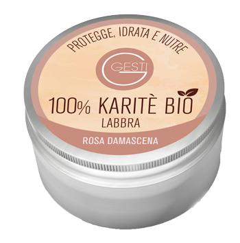 GESTI 100% KARITE' BIO 10 ML ROSA DAMASCENA LABBRA - FARMAEMPORIO