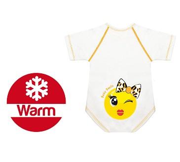 BODY 0 36 M CALDO COTONE WARM BABY SMILE FIOCCHETTINA - Farmawing