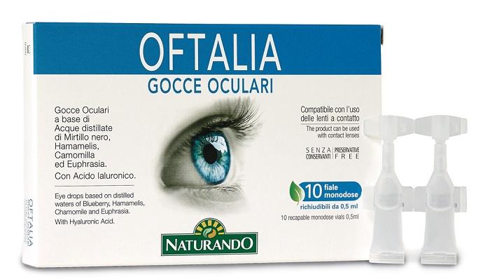OFTALIA GOCCE OCULARI MONODOSE 2 STRIP DA 5 FIALE DA 0,5 ML - FARMAEMPORIO