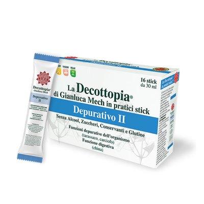 Tisanoreica Decottopia Depurativo II Funzioni Digestive 16 Stick da 30 ml - La tua farmacia online