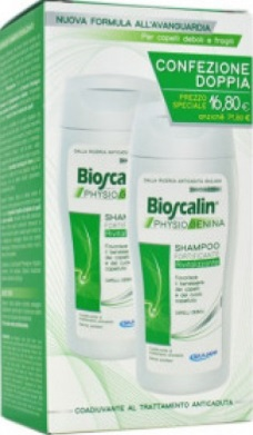 BIOSCALIN PHYSIOGENINA SHAMPOO RIVITALIZZANTE COFANETTO 200 ML x 2 - Farmastar.it