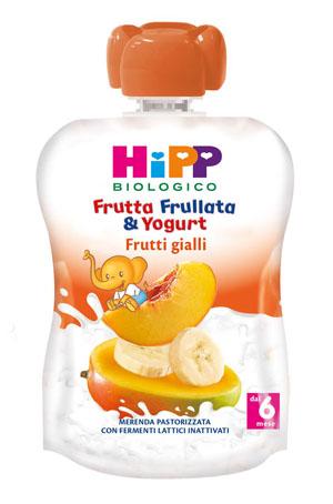HIPP FRUTTA FRULLATA YOGURT FRUTTI GIALLI 90 G - Farmamille