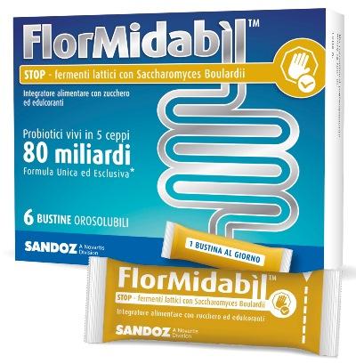 FLORMIDABIL STOP 6 BUSTINE OROSOLUBILI 1,5 G - Farmacento