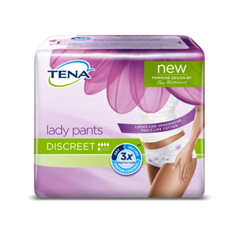 MUTANDINA ASSORBENTE TENA LADY PANTS DISCREET LARGE 5 PEZZI - Farmaciasconti.it