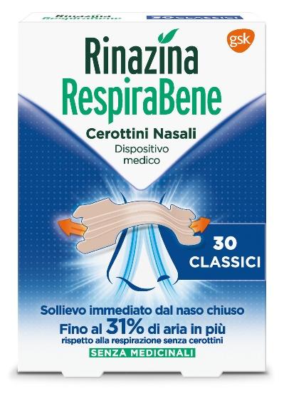 Rinazina Respirabene Cerotti Nasali CLASSICI 30 pezzi - Farmamille