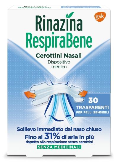 RINAZINA RESPIRABENE CEROTTI NASALI TRASPARENTI CARTON 30 PEZZI - Farmamille