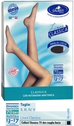 SAUBER CLASSICO COLLANT 70 DENARI MAGLIA LISCIA BLU NOTTE 3 - Farmacento