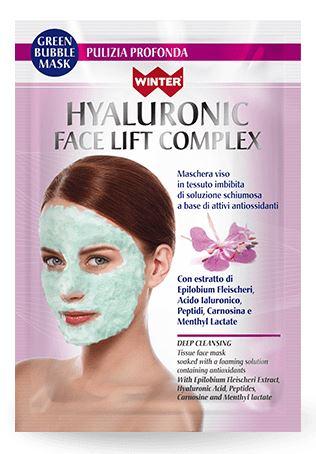 WINTER HYALURONIC FACE LIFT COMPLEX MASCHERA VISO BUBBLE PULIZIA PROFONDA 23 ML - Farmacento