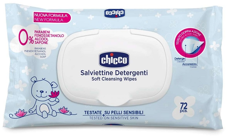CHICCO COSMESI SALVIETTE 72 PEZZI PLAQ - farma-store.it