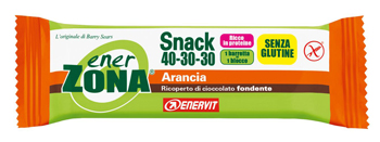 EnerZona Enervit Snack 40-30-30 Arancia Cioccolata Senza Glutine 27 grammi - La tua farmacia online