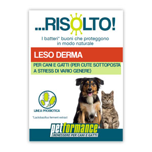 PETFORMANCE LESO DERMA RISOLTO CANE E GATTO 50 ML - Farmastar.it