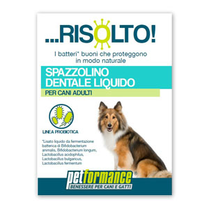 PETFORMANCE SPAZZOLINO DENTALE LIQUIDO RISOLTO PER CANE 50 ML - Farmastar.it