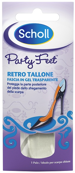 PLANTARE ORTOPEDICO PER RETRO TALLONE PARTY FEET SCHOLL GEL ACTIV 1 PAIO - Farmamille