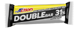 PROACTION DOUBLE BAR 31% ARANCIA CARAMELLO 60 G - La tua farmacia online