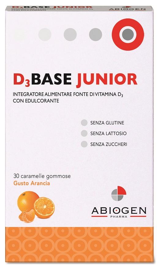 D3BASE JUNIOR 30 CARAMELLE GOMMOSE ARANCIA - Farmastar.it