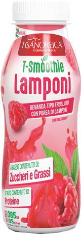 TISANOREICA T SMOOTHIE LAMPONI BEVANDA 250 ML - La tua farmacia online