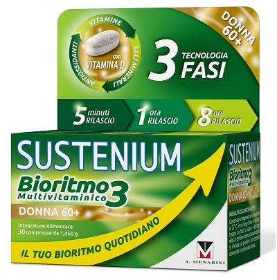SUSTENIUM BIORITMO3 DONNA 60+ 30 COMPRESSE - Zfarmacia