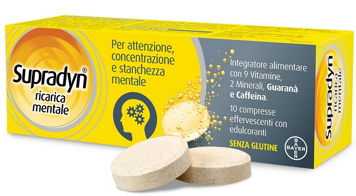 SUPRADYN RICARICA MENTALE 10 COMPRESSE - Farmapc.it