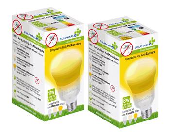 COLPHARMA LAMPADINA LED ANTIZANZARA 8 WATT - Farmacento